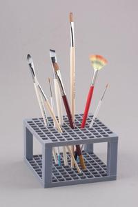 Plastikowy kwadratowy stojak na pędzle - 2428998174