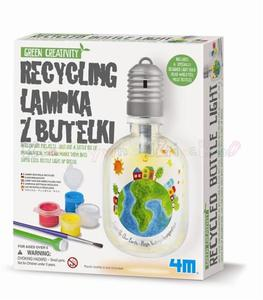 Green Creativity - RECYKLING LAMPKA Z BUTELKI - 2428998245
