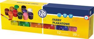 ASTRA farby plakatowe - komplet 12 kolorów w poj. po 20 ml. - 2428999269