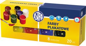 ASTRA farby plakatowe - komplet 8 kolorów w poj. po 20 ml. - 2428999271