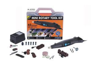 Zestaw z miniwiertarką 60W 230V 62 elementy - 2428999953