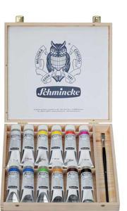 Komplet farb akrylowych SCHMINCKE AKADEMIE ACRYL 13x60ml w drewnianej kasecie - 2429001066