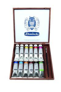 Komplet farb akrylowych SCHMINCKE AKADEMIE 11X60 ML W DREWNIANEJ KASETCE - 2429001919