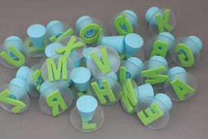 Alfabet - gąbkowe stempelki - 26 liter - 2428997902