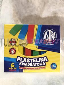 Plastelina Astra kwadrat 6 kol - 2846604221