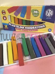 Plastelina Astra kwadrat 12 kol - 2846604222