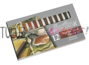 Zestaw pasteli w sztyfcie Cretacolor odcienie brązowe 12 szt - 2832337259