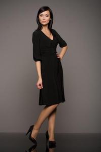 Czarna super modna sukienka - S01 - 1897956111