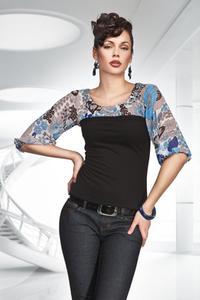Modna bluzeczka na lato - niebieski - B13 - 1897956565