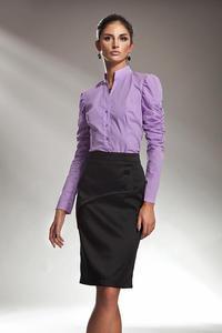 Modna spódnica z klapą - czarny - SP10 - 1897956571