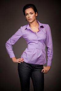 Wyjątkowa koszula w modnym fasonie - fiolet - K23 - 1897956884