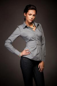 Wyjątkowa koszula w modnym fasonie - jasny szary - K23 - 1897956885