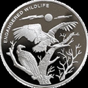 Kongo - 10 franc 2009 - Zagrożone zwierzęta - Sępy - 2833160347