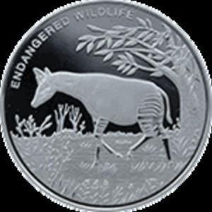Kongo - 10 franc 2010 - Zagrożone zwierzęta - Okapi - 2833160194