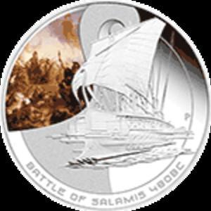 Cook Islands - 2010, 1 dolar - Bitwy morskie - SALAMIS - 2833160193