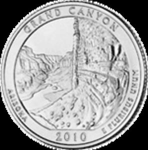 25 Cent�w 2010 - Grand Canyon National Park - Arizona (D) - 2833160014