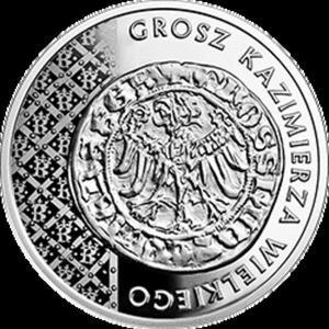 20 zł 2015 Historia Monety Polskiej - Grosz Kazimierza Wielkiego - 2833159541
