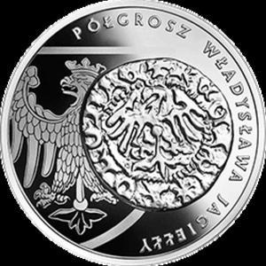 20 zł 2015 Historia Monety Polskiej - Półgrosz Władysława Jagiełły - 2833159531
