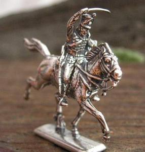 HUSAR - figurka ze srebra - 2855518436