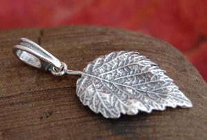 LISTKI - srebrny wisiorek srebrny wisiorek - 2831093594
