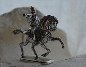 HUSAR II - figurka ze srebra - 2853264245