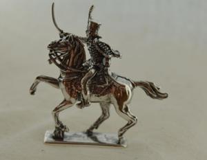 HUSAR V - figurka ze srebra - 2855518444