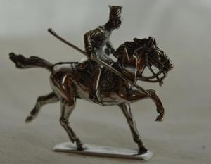 HUSAR IV - srebrna figurka - 2855518443