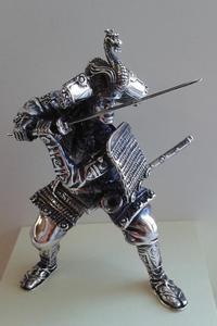 RONIN - srebrna figurka japońskiego wojownika - 2850672884