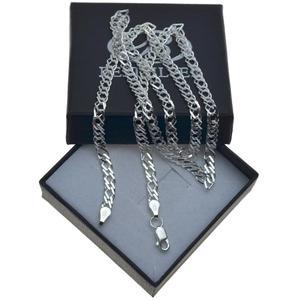 Łańcuszek Srebrny Rombo 40cm Srebro 925 4mm - 2837419697