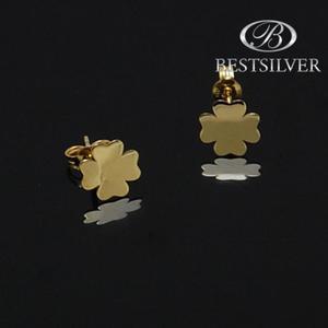 kolczyki ze złota koniczyna szczescia zloto 333 - 2837419772