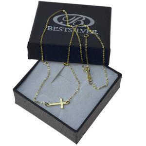 Naszyjnik Złoty celebrytka Krzyżyk 42cm + 3cm złoto 8kt - 2837419773