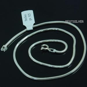 Srebrny lancuszek Żmijka 2mm okragla 65cm ze srebra - 2837419763