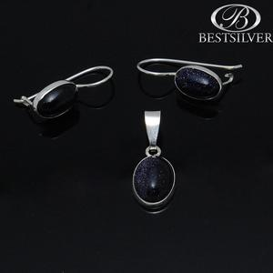 Komplet srebrnej biżuterii noc kairu + łańcuszek srebrny 925 - 2875312368