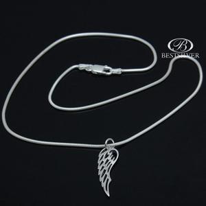 Łańcuszek srebrny żmijka + srebrna zawieszka Skrzydło Anioła - 2875312285
