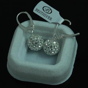 Kolczyki Swarovski Kulki Disco Ball 12mm Crystal - 2630281271