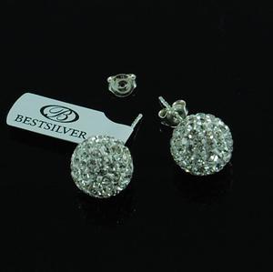Kolczyki Discoball Swarovski kulki 12mm Crystal na sztyfty - 2864052676