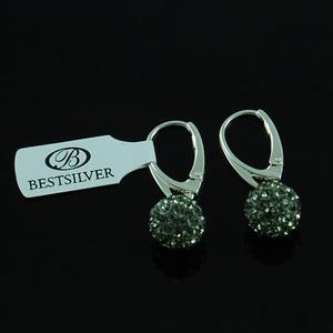 Kolczyki Srebrne Discoball wiszące Black Diamond 10mm - 2630281193