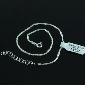 Bransoletka na kostkę ze srebra bardzo modna i elegancka Srebro 925 - 2630280991