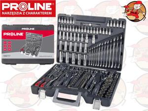 58217 Zestaw kluczy 1/4, 3/8, 1/2cala 3.5-32mm i płasko-oczkowe 8-19mm Proline