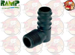 RPK-1612 kolanko z gwintem zewnętrznym 1/2' system poziomowania RAMP - 2863857661