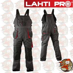 LPSR02 profesjonalne spodnie robocze na szelkach 267 gram LahtiPro w rozmiarze XL(56)