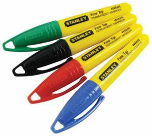 MARKERY MINI FINE TIP Dostępne w 4 kolorach ! STANLEY 1-47-329