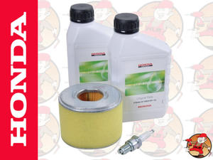 Oryginalny zestaw filtr powietrza, 2xolej, świeca do silnika HONDA GX340 i GX390 kat. 06211-ZE3-000
