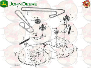 """GX23110 Główny pasek napędowy agregatów 42"""" EO018 John Deere np. do X155R (1 z 2)"""