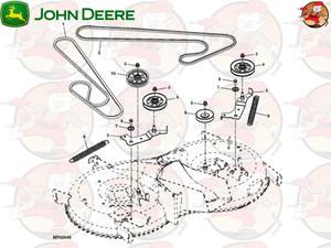 "GX23110 G�ówny pasek nap�dowy agregatów 42"" EO018 John Deere np. do X155R (1 z 2)"