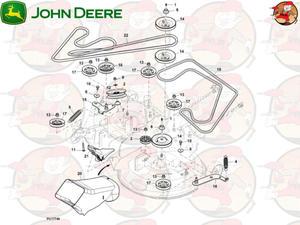 M170985 Główny pasek napędowy John Deere do X350R (1 z 2)