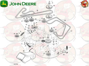 M170986 Główny pasek napędowy John Deere do X350R (2 z 2)