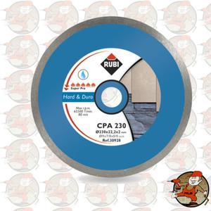 CPA230 SUPERPRO Ref.30928 Tarcza diamentowa do materiałów twardych, obrzeże ciągłe Rubi CPA...