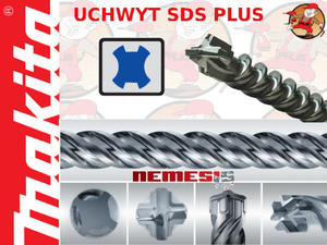 B-13340 MAKITA Wiertło 4-ostrzowe do betonu NEMESIS SDS PLUS 12x1000mm Kupuj więcej płać mniej !!!...