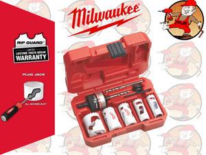 Zestaw bimetalowych otwornic 7szt. 19-38mm MILWAUKEE